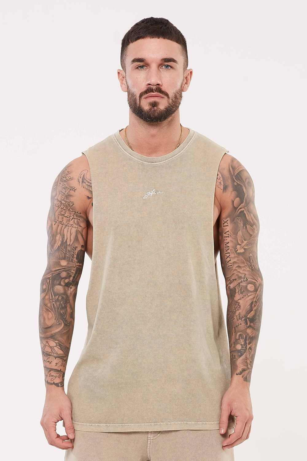 Good For Nothing Signature Vest - Stone Wash - 2