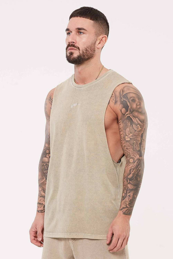 Good For Nothing Signature Vest - Stone Wash
