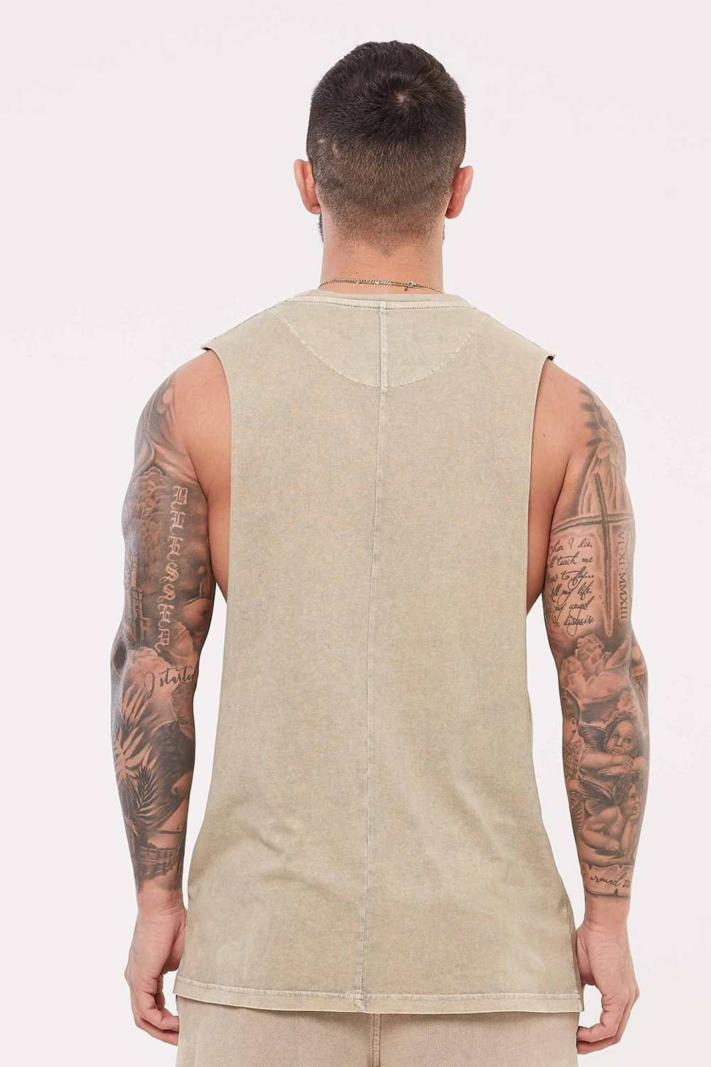 Good For Nothing Signature Vest - Stone Wash - 3