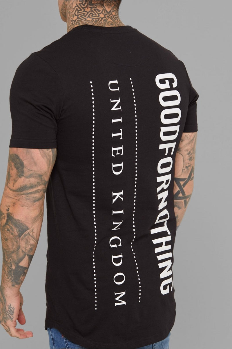 Good For Nothing Vertical T-Shirt - Black - 1