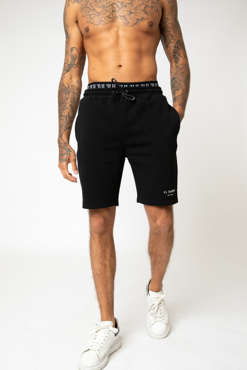 IL Sarto Diego Fleece Shorts - Black - 2