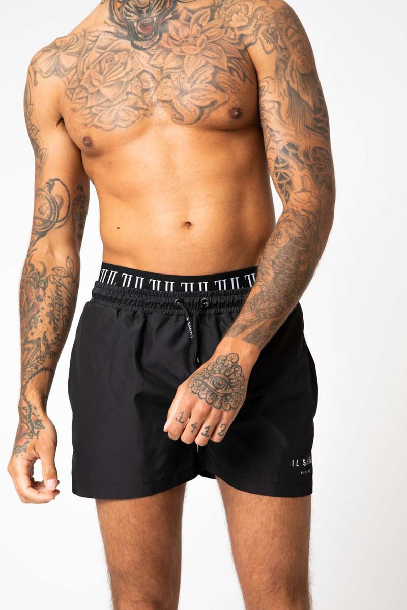 IL Sarto Diego Swim Shorts - Black