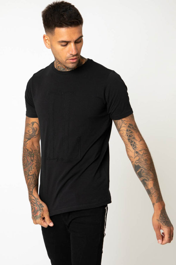 IL Sarto Large Tonal T-Shirt - Black - 1