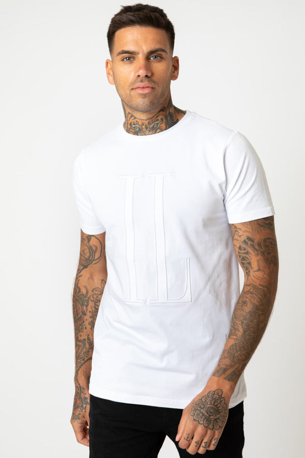 IL Sarto Large Tonal T-Shirt - White - 1