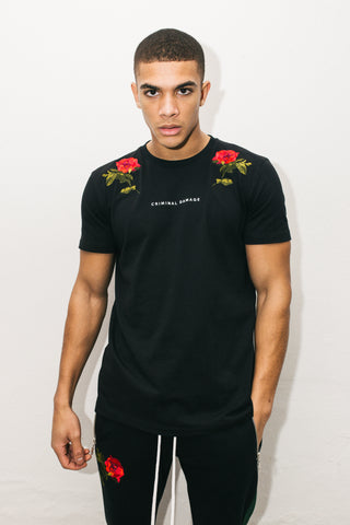 Criminal Damage Thorn T-Shirt - Black