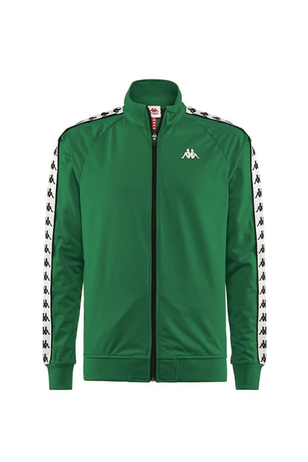 Kappa Banda Anniston Track Top - Green/White/Black