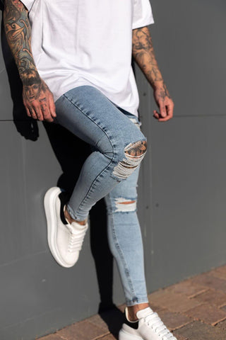 Sinners Attire Destroyed Jeans - Light Wash - 2