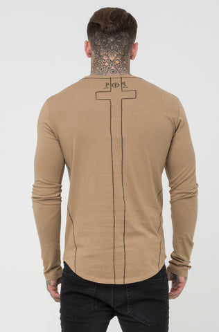 Religion Long Sleeve Tee - Camel - 1