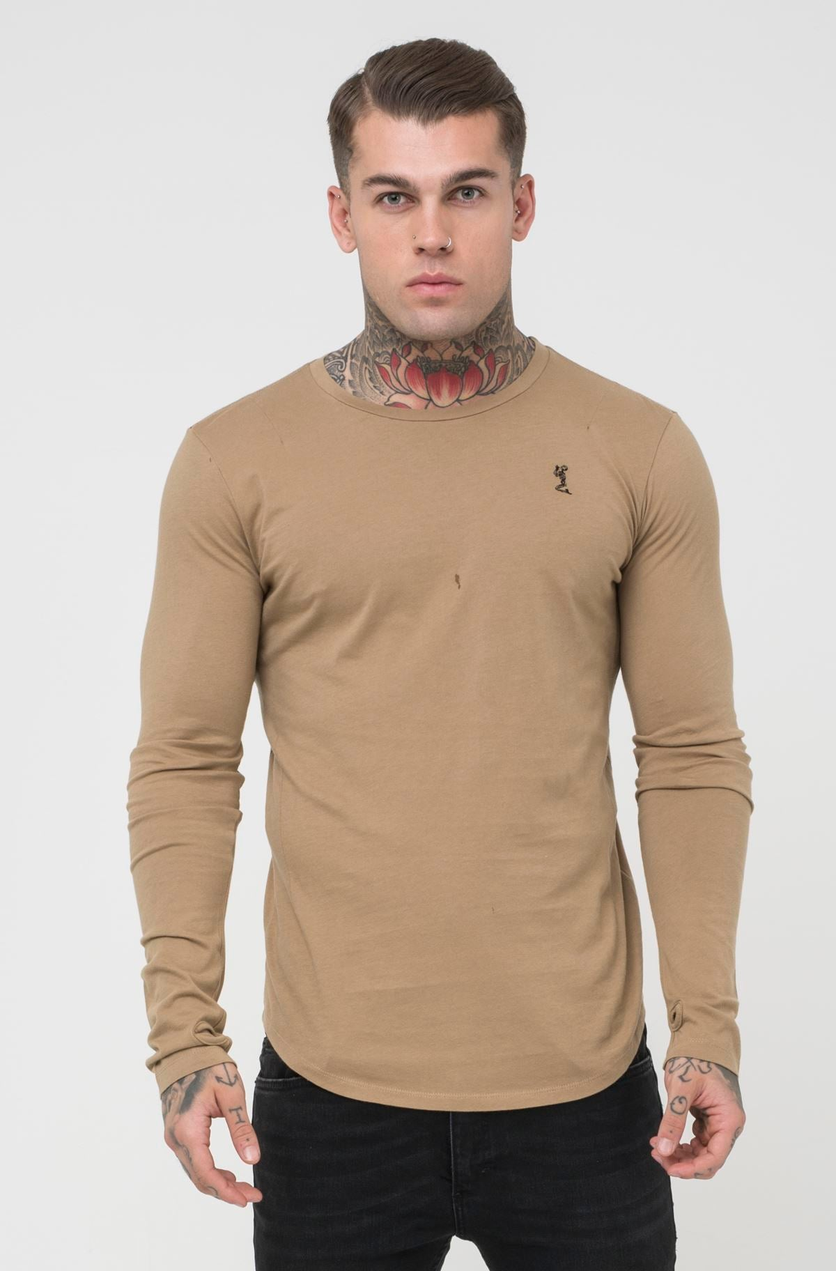Religion Long Sleeve Tee - Camel