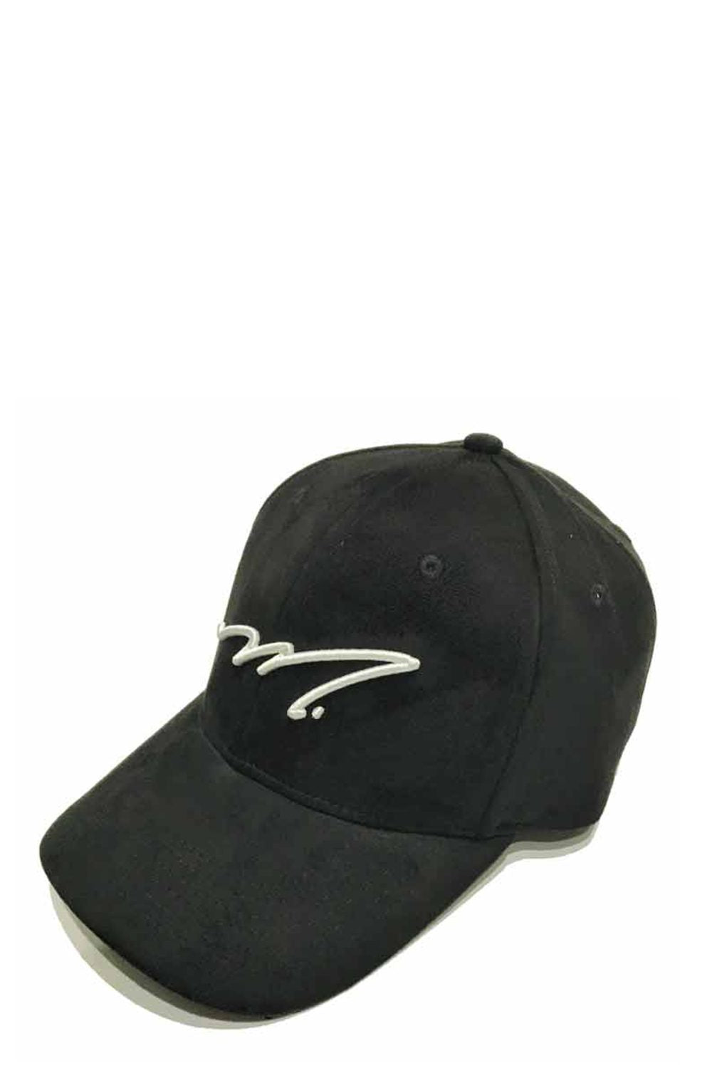 Mercier Signature Suede Trucker Cap - Black/White