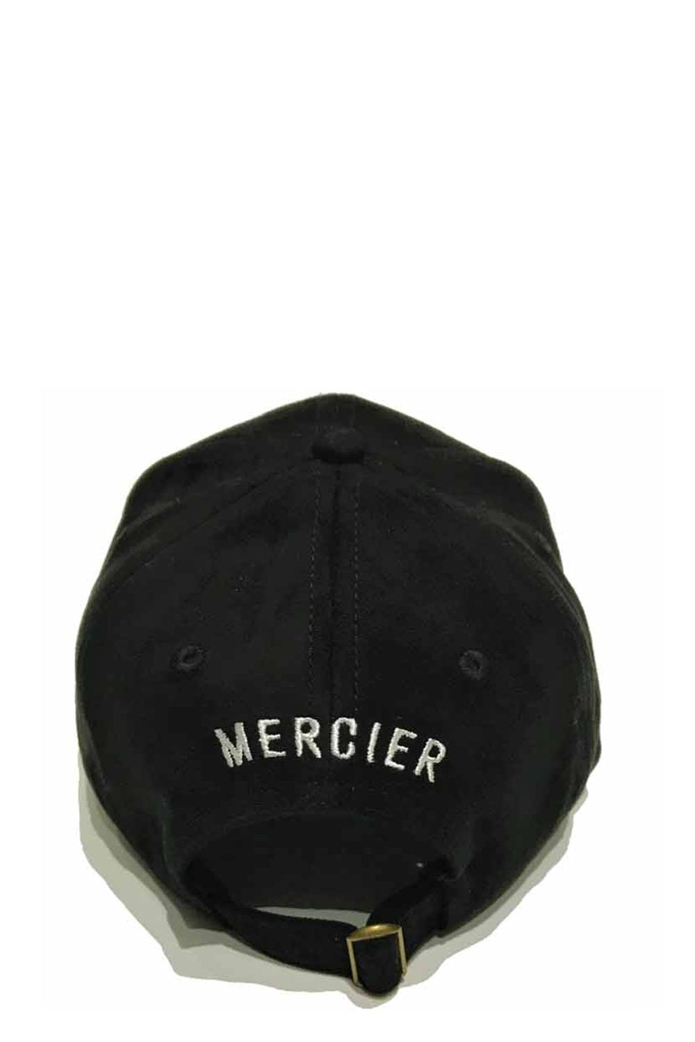 Mercier Signature Suede Trucker Cap - Black/White - 1