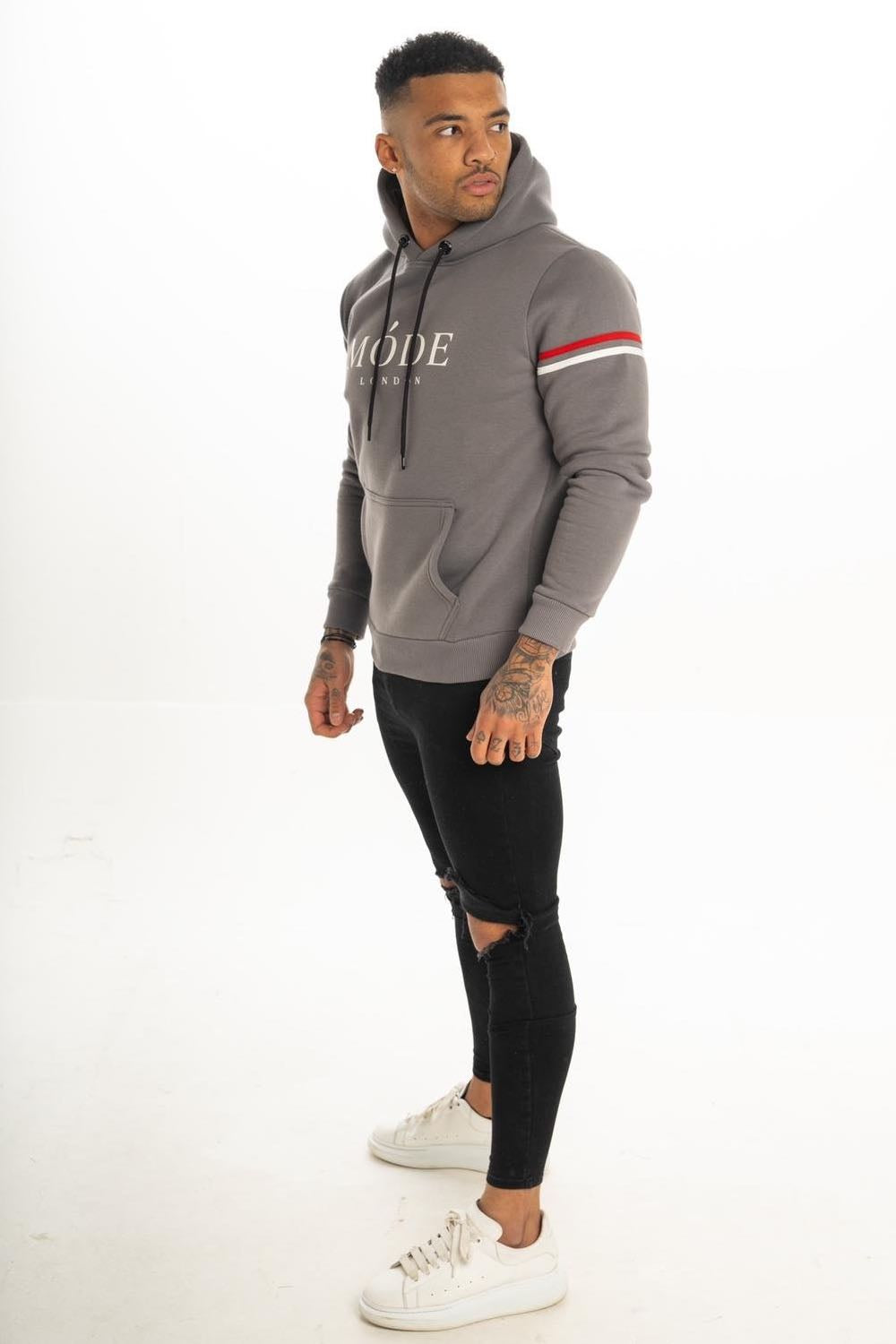 Mode London Mayfair Hoodie - Steel Grey - 2