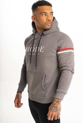 Mode London Mayfair Hoodie - Steel Grey - 1