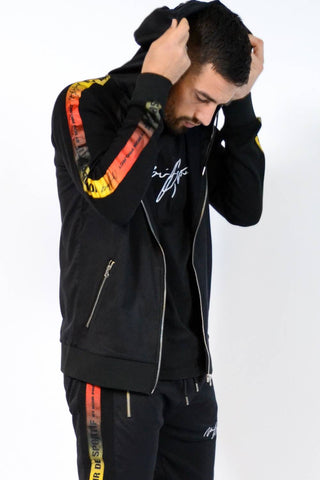 Noir De Sportif Fire Poly Track Jacket - Black
