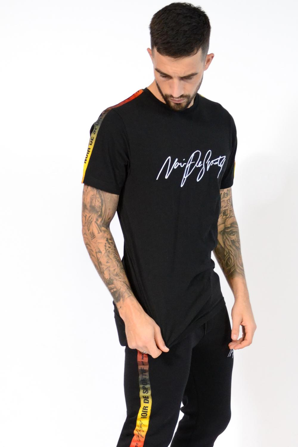 Noir De Sportif Fire T-Shirt - Black - 2