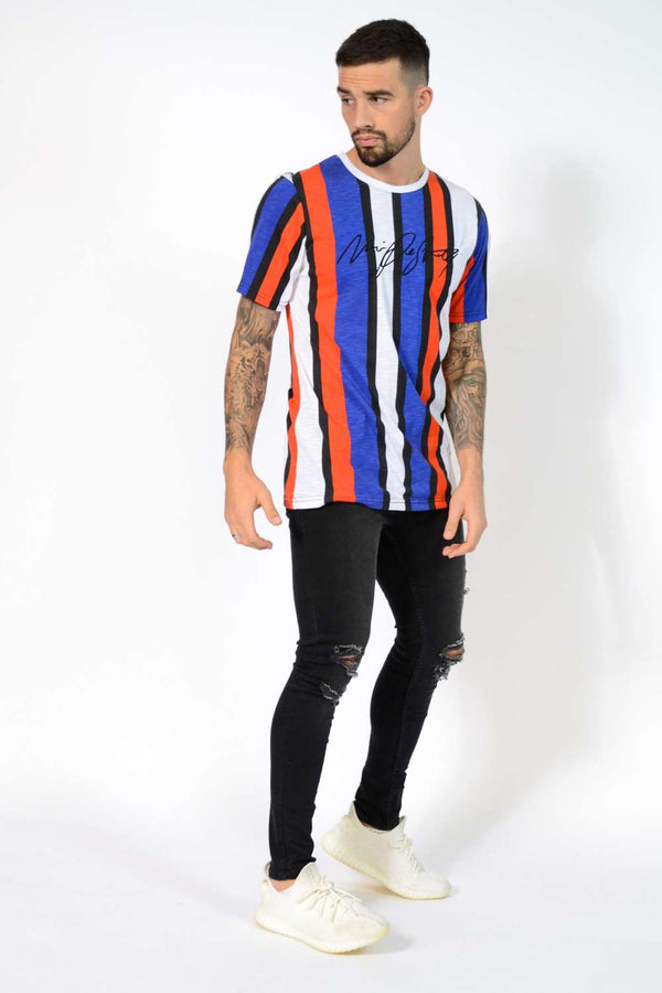 Noir De Sportif Sport Striped T-Shirt - Navy/White/Red - 1