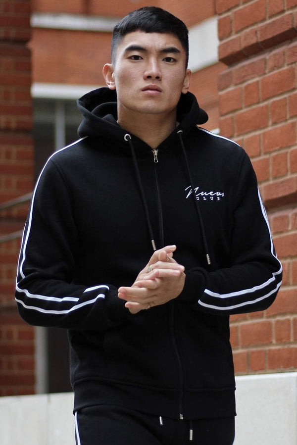 Nuevo Club Signature Taped Hoodie - Black/White