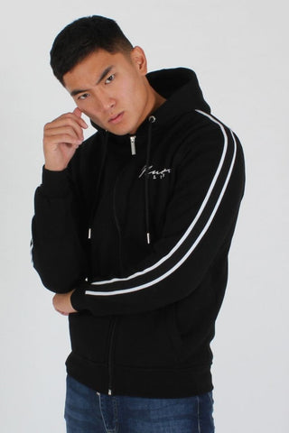 Nuevo Club Signature Taped Hoodie - Black/White - 3