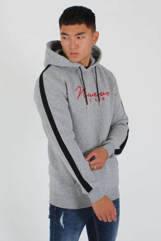Nuevo Club Signature Taped Hoodie - Grey Marl/Red - 1