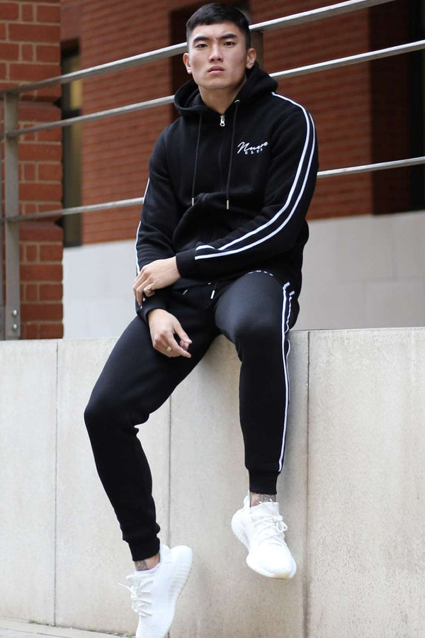 Nuevo Club Signature Taped Joggers - Black/White - 1