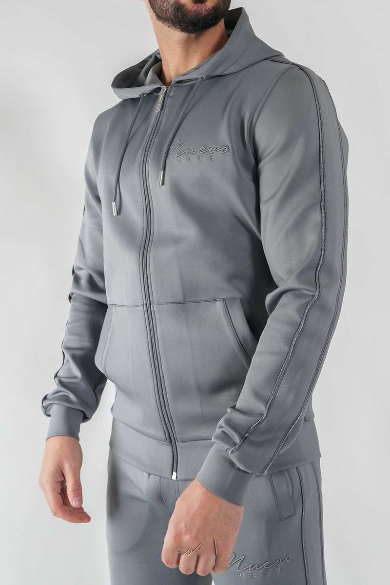 Nuevo Club Stealth Poly Track Top - Steel Grey - 3