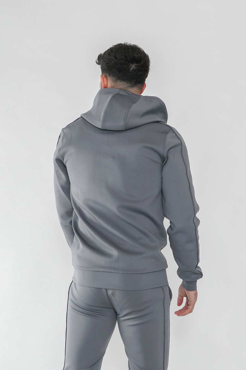 Nuevo Club Stealth Poly Track Top - Steel Grey - 4