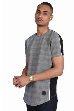 Project X Paris Check Side Panel T-Shirt - Black