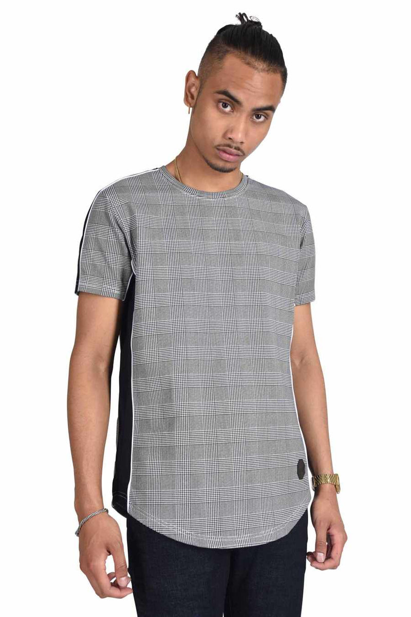 Project X Paris Check Side Panel T-Shirt - Black - 2