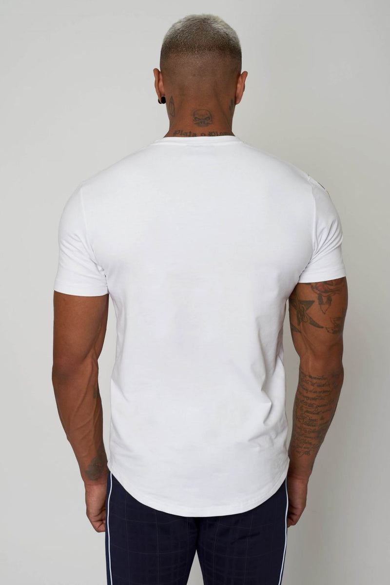 Project X Paris Double V Colour Block T-shirt - White - 3