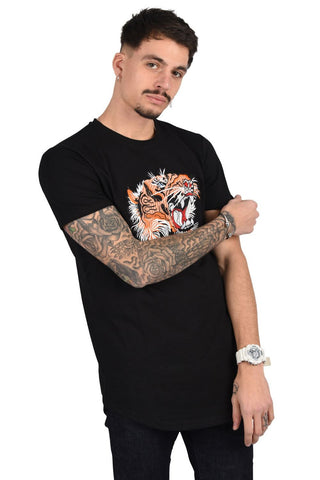 Project X Paris Embroidered Tiger T-Shirt - Black - 3