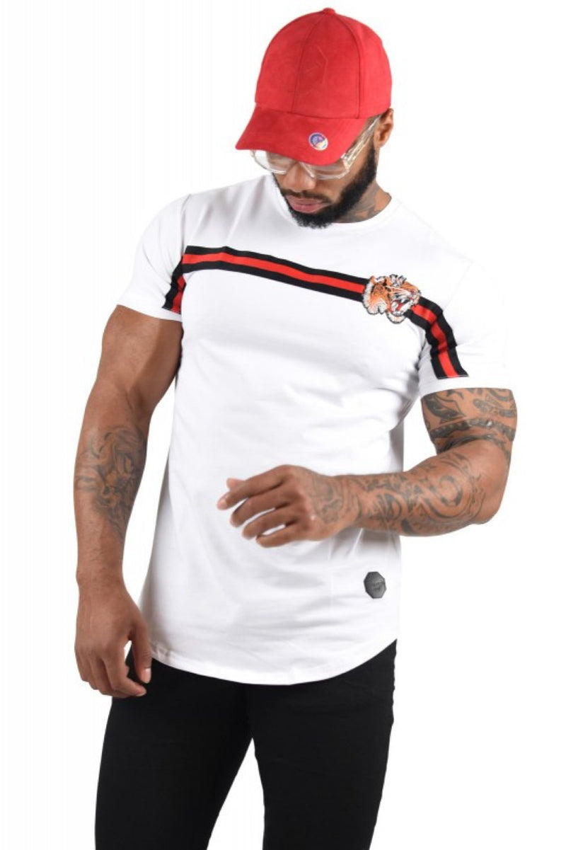 Project X Paris Stripe Tiger T-Shirt - White