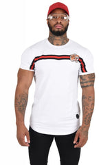 Project X Paris Stripe Tiger T-Shirt - White - 2