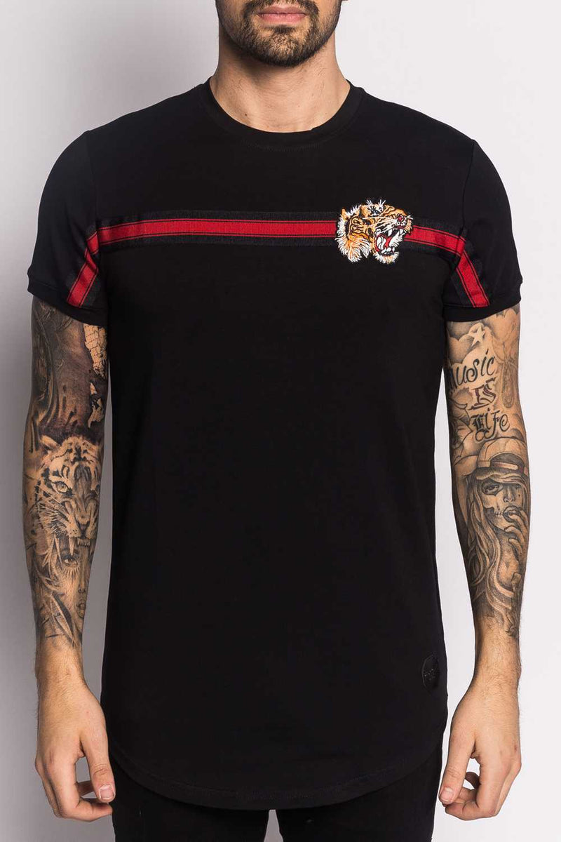 Project X Paris Stripe Tiger T-shirt - Black  - 4