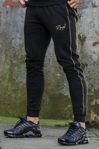 Roya1 Clothing Rome Joggers - Black/Gold