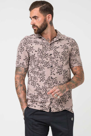 Religion Clothing Naya Scatter Print Short Sleeve Shirt - Stone - 1