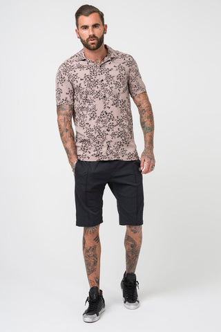 Religion Clothing Naya Scatter Print Short Sleeve Shirt - Stone