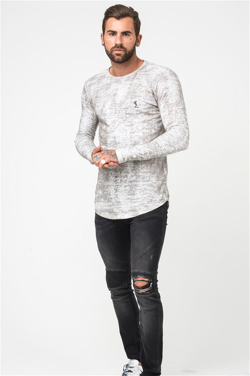 Religion Lost Long Sleeve Tee - Pale Grey - 2