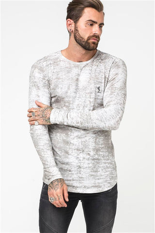 Religion Lost Long Sleeve Tee - Pale Grey