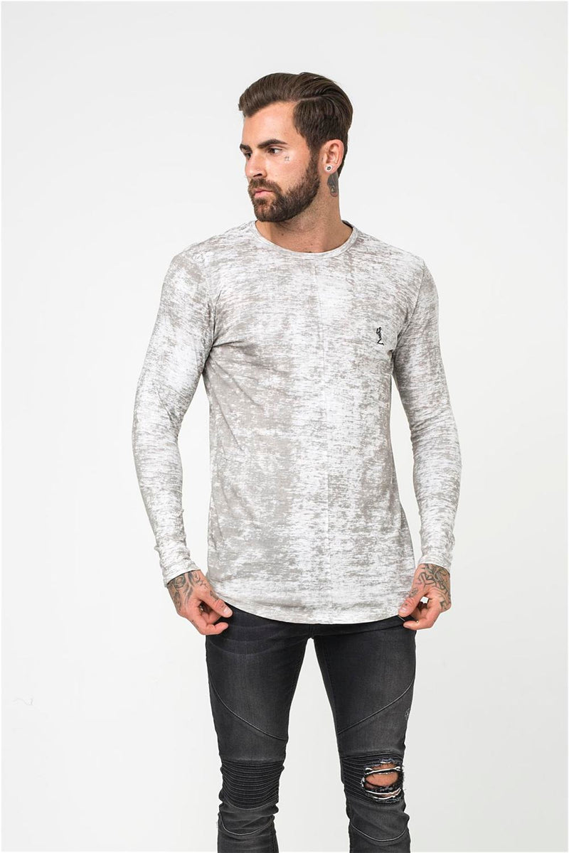 Religion Lost Long Sleeve Tee - Pale Grey - 3
