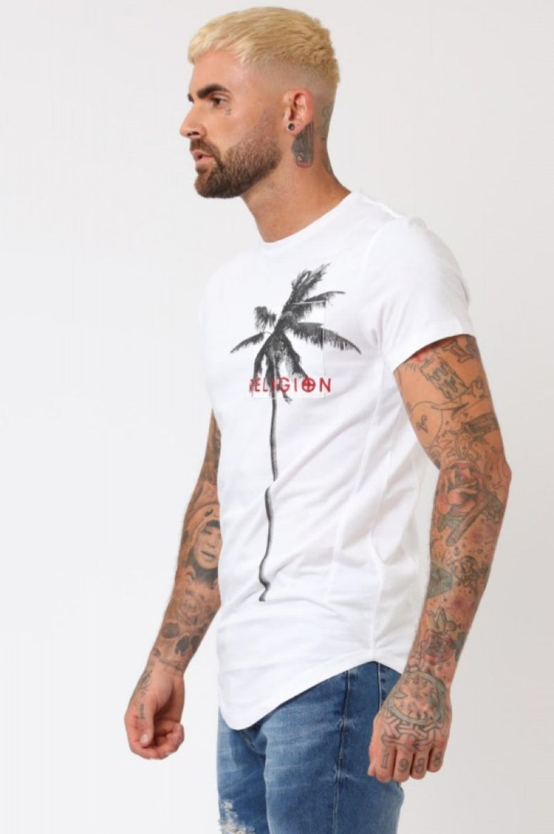 Religion Pocket Palm T-Shirt - White - 2
