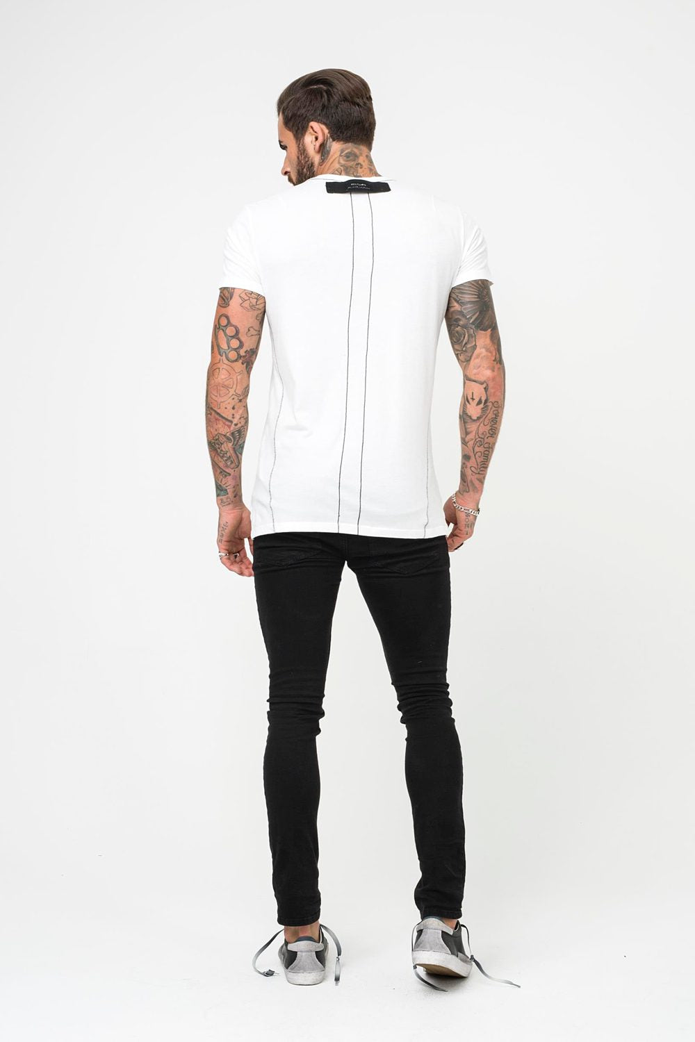Religion Smokey Skull Graphic Tee - White - 2