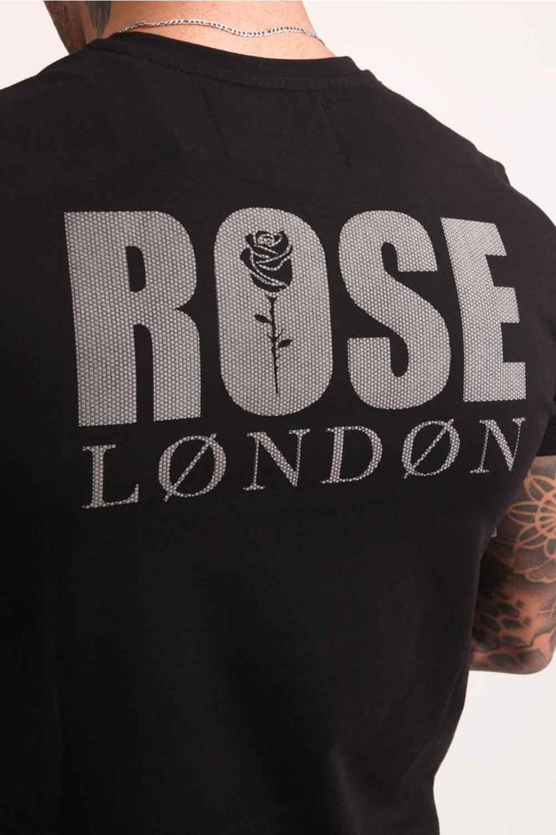 Rose London Back Graphic T-Shirt - Black - 2