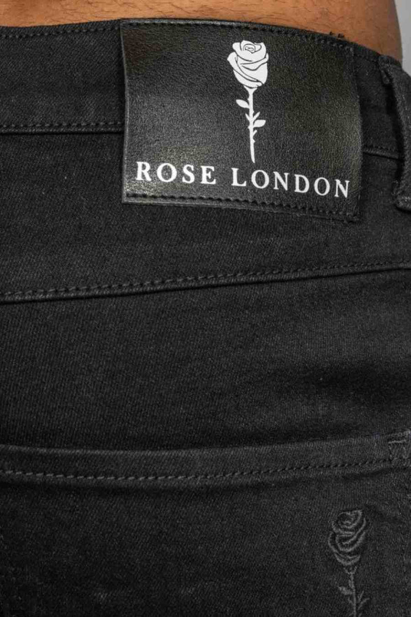 Rose London Non Ripped Skinny Jeans - Black - 1