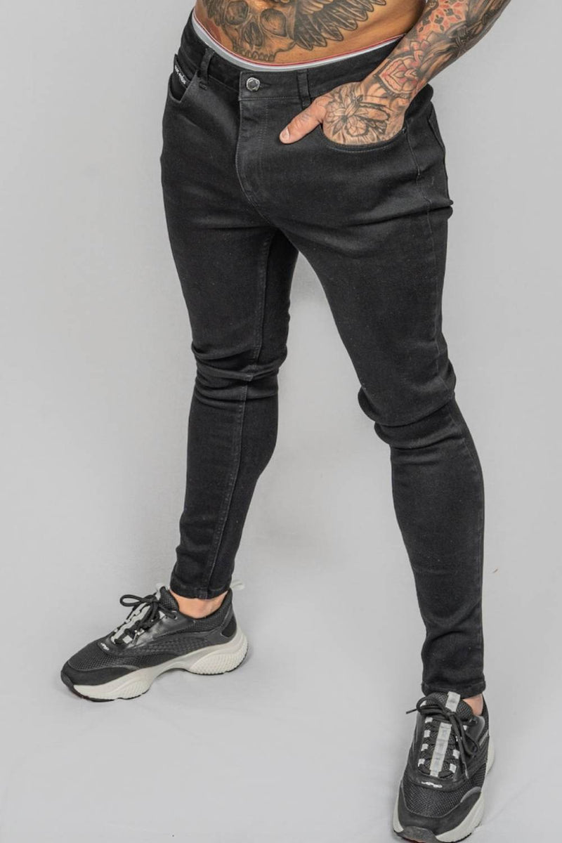 Rose London Non Ripped Skinny Jeans - Black