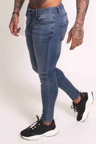 Rose London Non Ripped Skinny Jeans - Light Blue