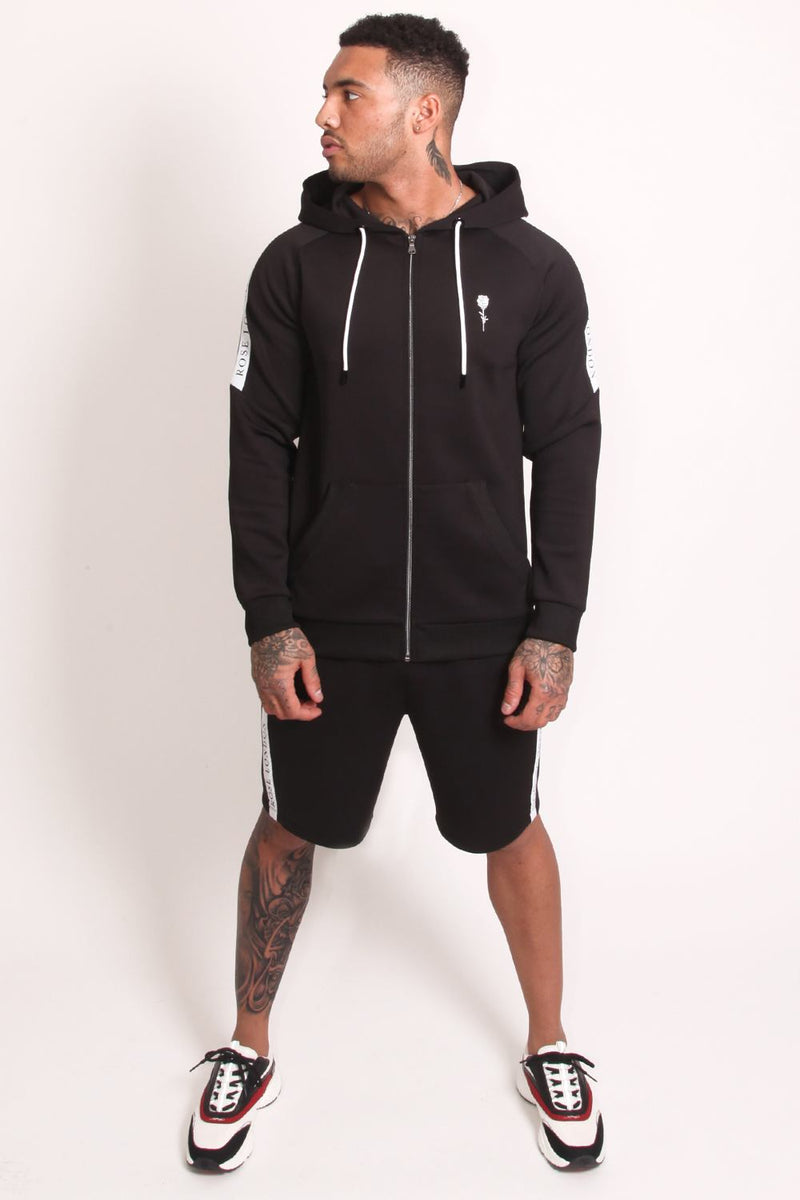 Rose London Tech Stripe Tricot Hoodie - Black - 3