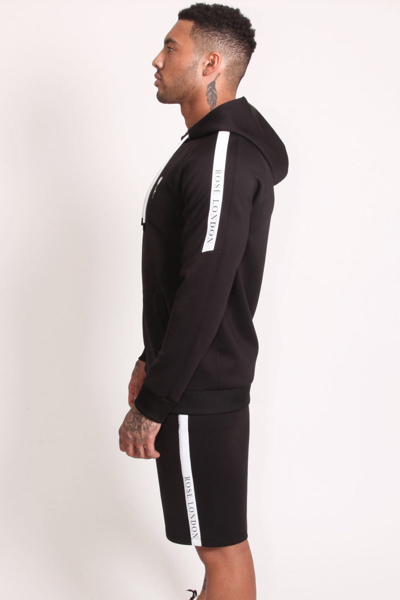 Rose London Tech Stripe Tricot Hoodie - Black - 2