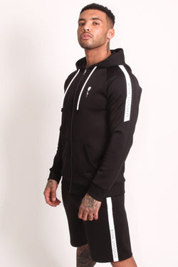 Rose London Tech Stripe Tricot Hoodie - Black