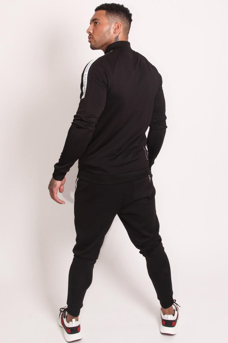 Rose London Tech Stripe Tricot Track Jacket - Black - 4
