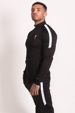 Rose London Tech Stripe Tricot Track Jacket - Black